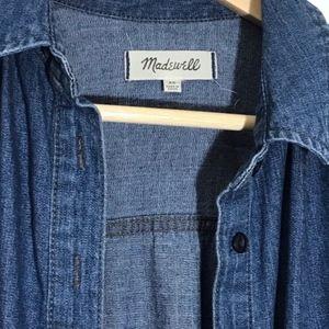 Madewell Tops - Madewell Denim Button Down Blouse Dress XS